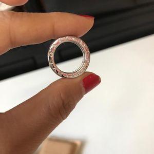 BVLGARI 宝格丽18k白金戒指