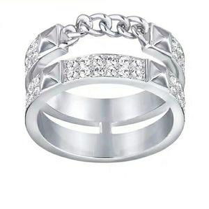 SWAROVSKI 施华洛世奇双环密镶女士戒指