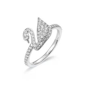 SWAROVSKI 施华洛世奇闪亮天鹅水晶质感戒指