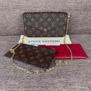 Louis Vuitton 路易·威登老花三合一链条包单肩包