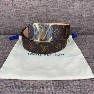 Louis Vuitton 路易·威登老花金头腰带