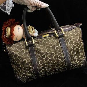 Celine 赛琳金马车波士顿枕头手提包