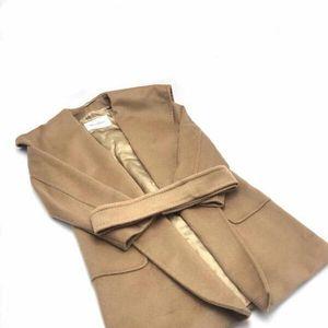MaxMara 麦丝玛拉棕色女士中长款羊绒大衣