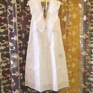 Burberry 博柏利淑女款纯棉镂空连衣裙