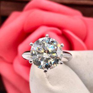 钻石  5克拉鸽子蛋女士经典六爪钻石戒指