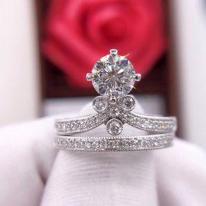 钻石  奢华经典四爪女神皇冠钻石戒指