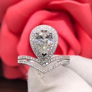 钻石  满天星水滴1.01克拉女士钻石戒指