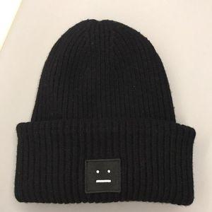 Acne Studios 艾克妮黑色针织帽