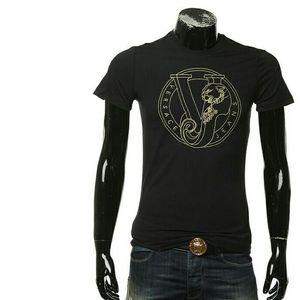 Versace Jeans 范思哲刺绣金标男士短袖