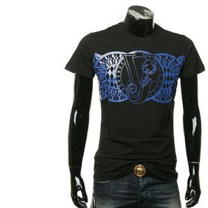 Versace Jeans 范思哲男时尚印花短袖圆领T恤