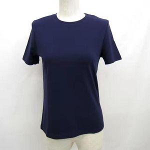 Hermès 爱马仕藏蓝色针织短袖