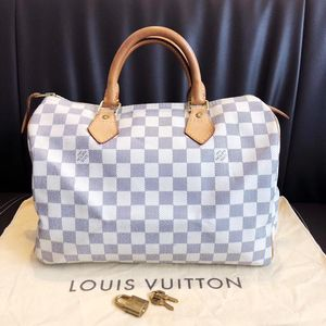 Louis Vuitton 路易·威登白棋盘格sp30手提包