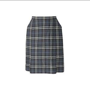 Burberry 博柏利羊毛格纹学院风半身裙