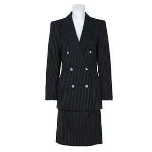 GIVENCHY 纪梵希中古款羊毛条纹OL风套装