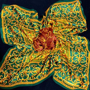 Dior 迪奥复古奢华款璀璨珠宝真丝超大方巾