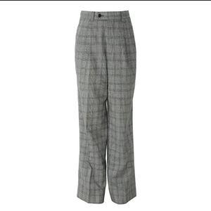 Dior 迪奥格纹宽松学院复古长裤