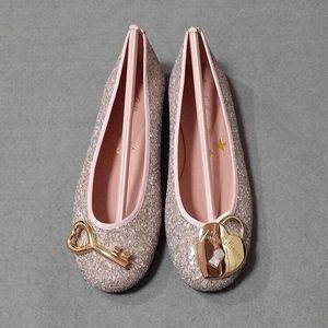 Pretty Ballerinas 粉银亮片心平跟鞋