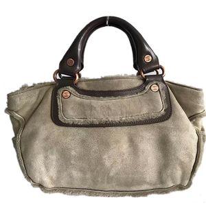 Celine 赛琳皮草手提包