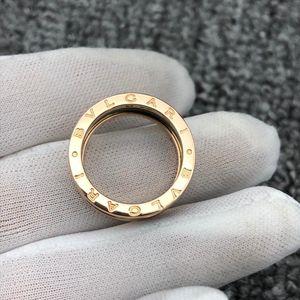 BVLGARI 宝格丽黑陶瓷双环戒指