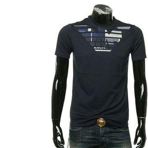 Emporio Armani EA 阿玛尼刺绣鹰标男士短袖T恤