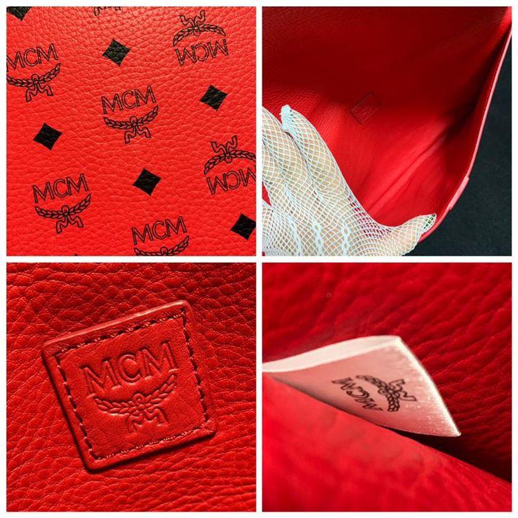 MCM 满天星logo全皮信封款大号手包