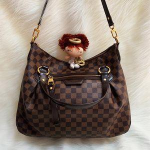 Louis Vuitton 路易·威登咖啡棋盘格拉链南瓜手提单肩包