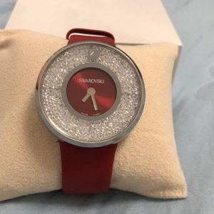 SWAROVSKI 施华洛世奇红色大气女款手表
