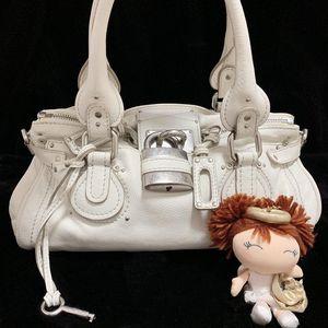 Chloé 蔻依白雪公主限量款机车锁头手提包