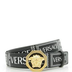 Versace 范思哲美杜莎男士真皮印花皮带腰带