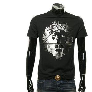 VERSUS 范瑟丝狮头男士休闲短袖T恤