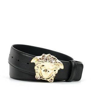 Versace 范思哲经典金头美杜莎男士真皮皮带腰带