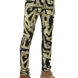 Versace Jeans 范思哲印花男拼色休闲裤长裤