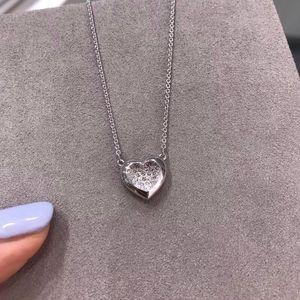 SWAROVSKI 施华洛世奇银色爱心水晶项链