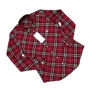 Burberry 博柏利红色盒子长袖衬衫