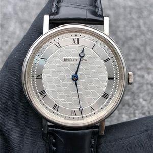 Breguet 宝玑白金材质手表手动机械男士腕表