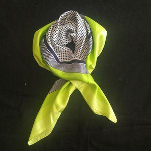 Yves Saint Laurent 伊夫·圣罗兰FJ05001绿边黑格真丝大丝巾