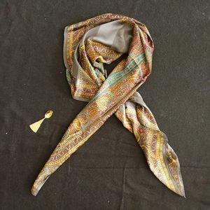 Yves Saint Laurent 伊夫·圣罗兰薄款民族风大丝巾披肩