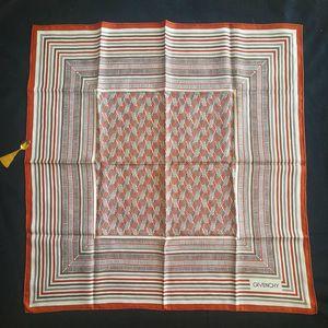 GIVENCHY 纪梵希FJ05051棕红条纹丝巾