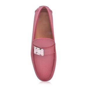 Louis Vuitton 路易·威登男士红色系牛皮金属扣软底豆豆鞋