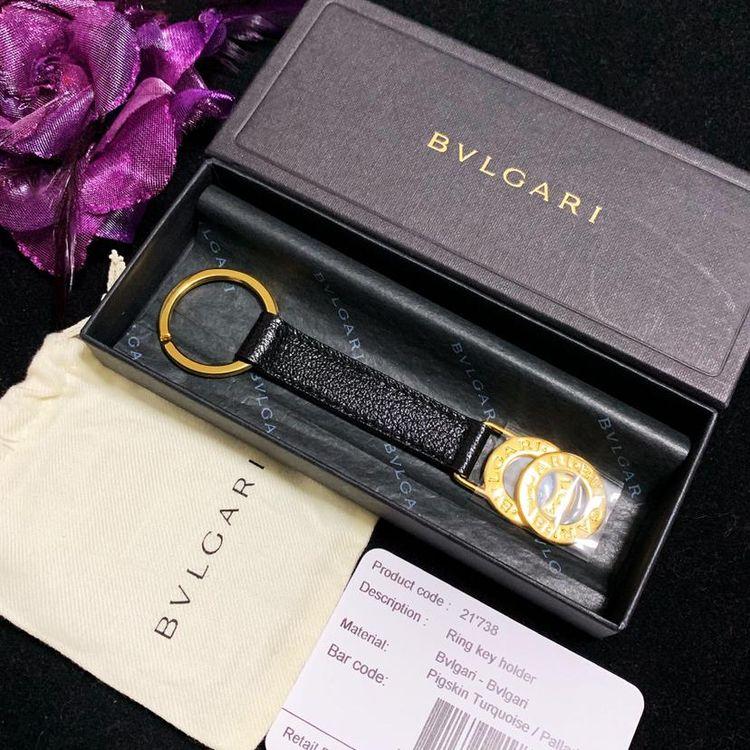 BVLGARI 宝格丽大金环纯皮钥匙扣