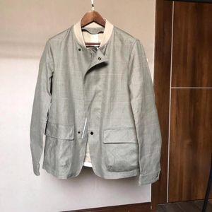Emporio Armani 安普里奥·阿玛尼男士豆绿色英伦风衣外套