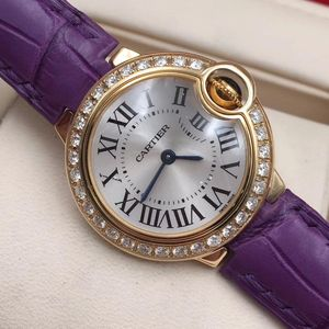 Cartier 卡地亚蓝气球系列WE900151 18K黄金后钻石英女士腕表