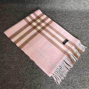 Burberry 博柏利经典大格子粉色羊绒围巾