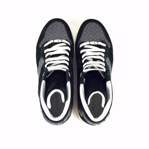 Bottega Veneta 葆蝶家男士灰色经典款编织高帮鞋