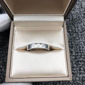 BVLGARI 宝格丽白金单钻戒指