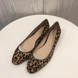 Kate Spade 凯特·丝蓓马毛豹纹心形平跟鞋