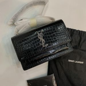 Yves Saint Laurent 伊夫·圣罗兰mini鳄鱼纹单肩包