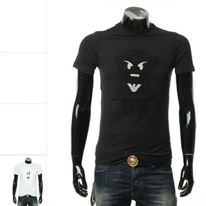 Emporio Armani 阿玛尼修身男休闲圆领短袖T恤