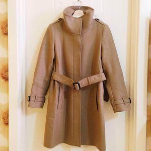 Burberry 博柏利驼色羊毛大衣