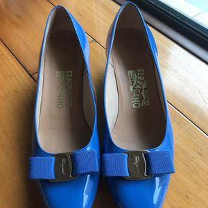 Ferragamo 菲拉格慕3cm漆皮鞋